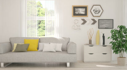 presentable and clean living room