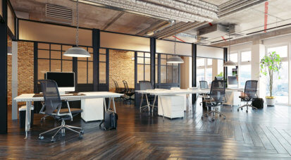 beautiful interior design of an office